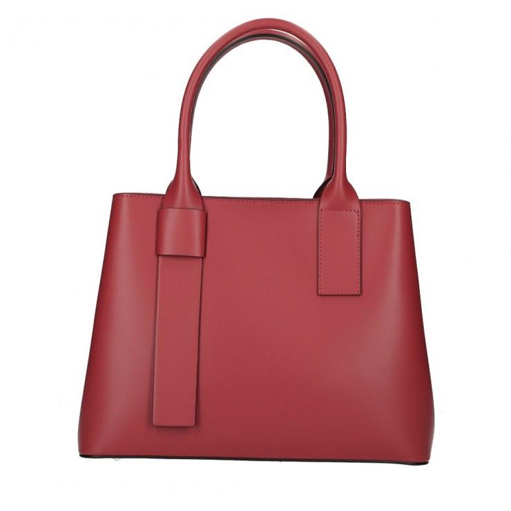Kožená kabelka 158 tmavočervená Made in Italy