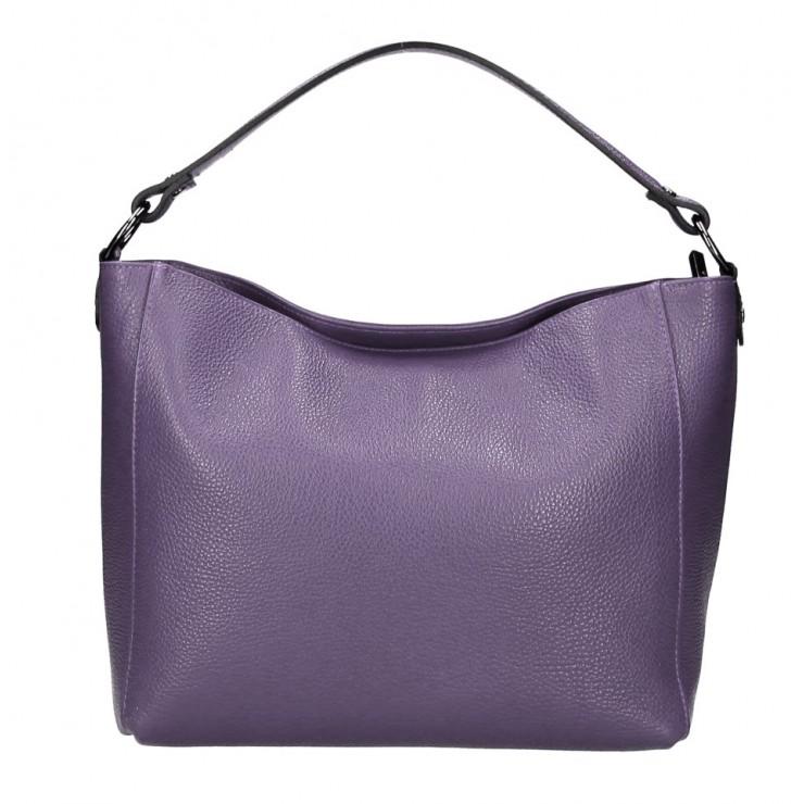 Genuine Leather Handbag 1268 purple Made in Italy