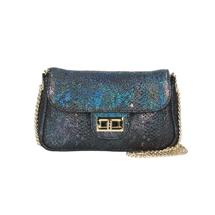 Kožená kabelka MI92 viacfarebná Made in Italy