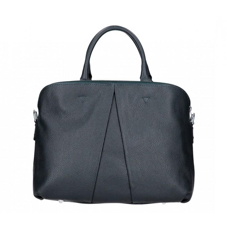 Genuine Leather Handbag MI87 dark blue Made in Italy