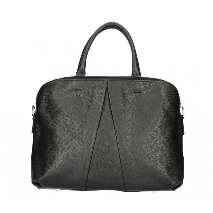 Genuine Leather Handbag MI87 black Made in Italy