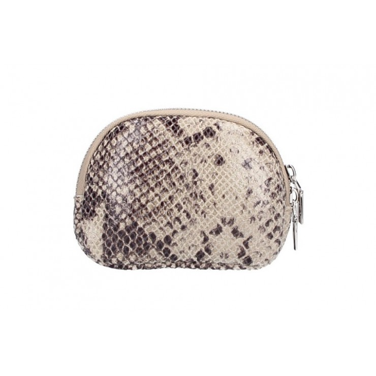 Leather Pouch 5348 taupe