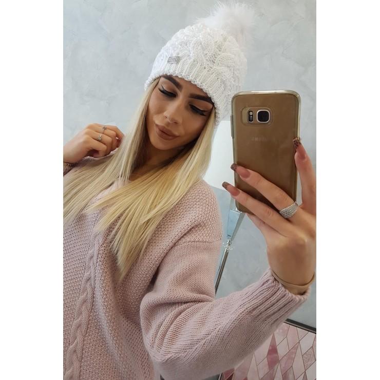 Dámska čiapka MIK166 biela