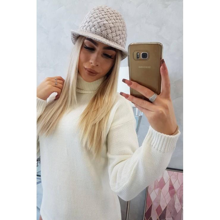 Dámsky pletený klobúk MIK164 béžový