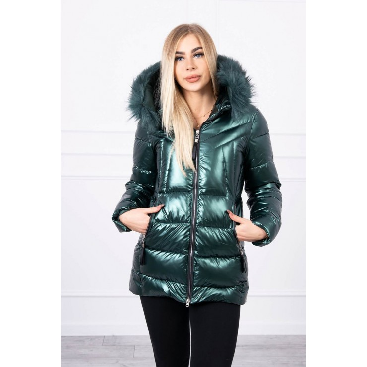 Dámska zimná bunda s kapucňou MI8206