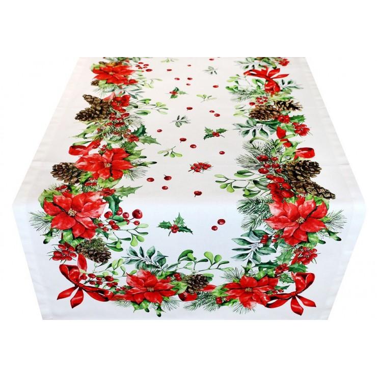 Vianočný behúň na stôl digitálna potlač 50x150 cm Made in Italy