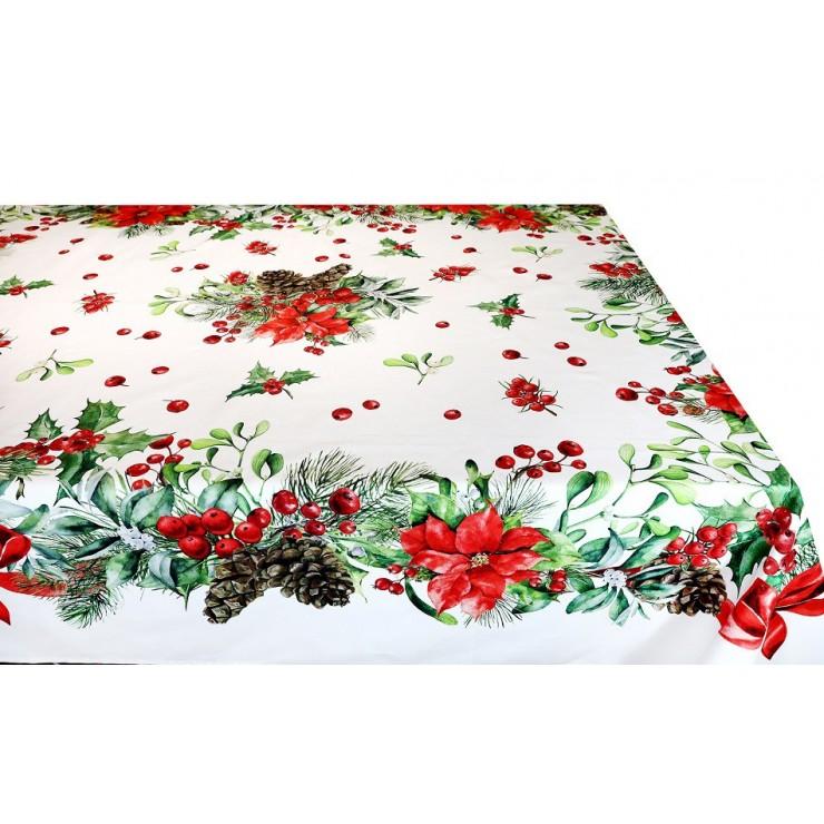 Vianočný obrus červený digitálna potlač MIG319B Made in Italy