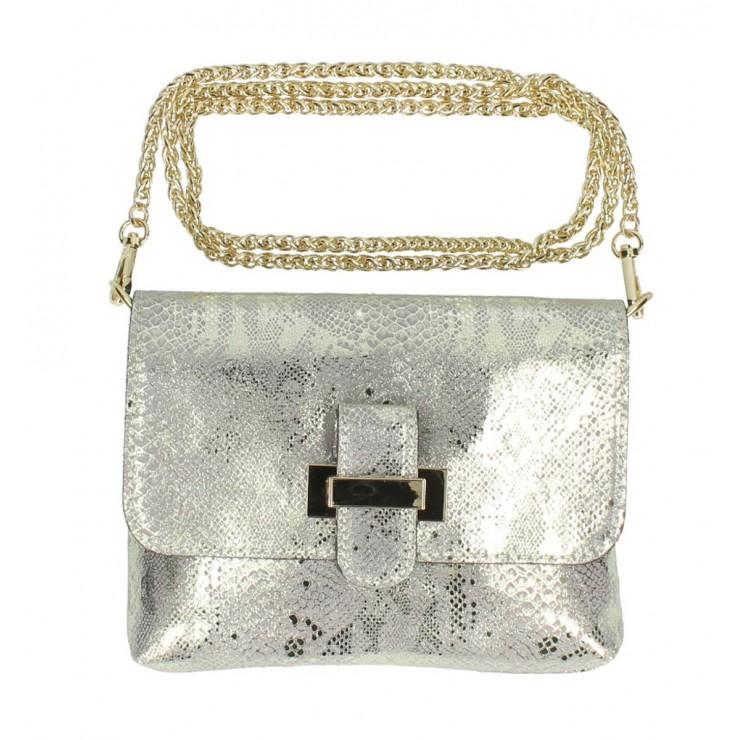 Kožená kabelka MI79 zlatá Made in Italy