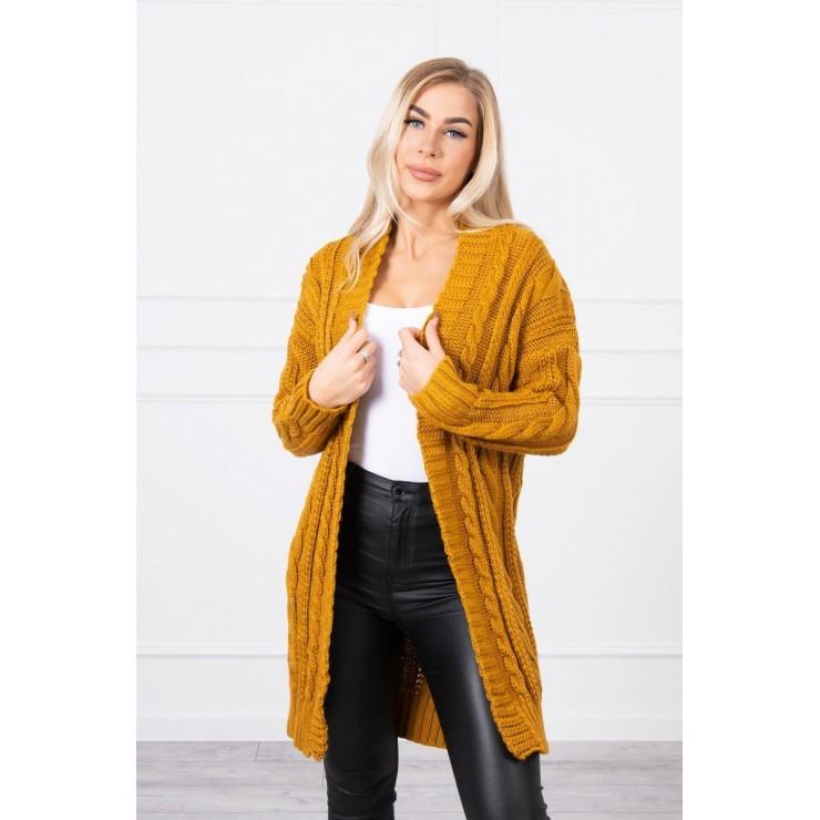 Women's knit sweater MI2019-21 mustard