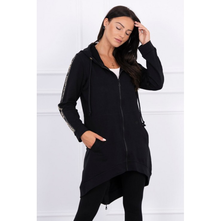 Women's sweatshirt with zipper at the back MI8997 black