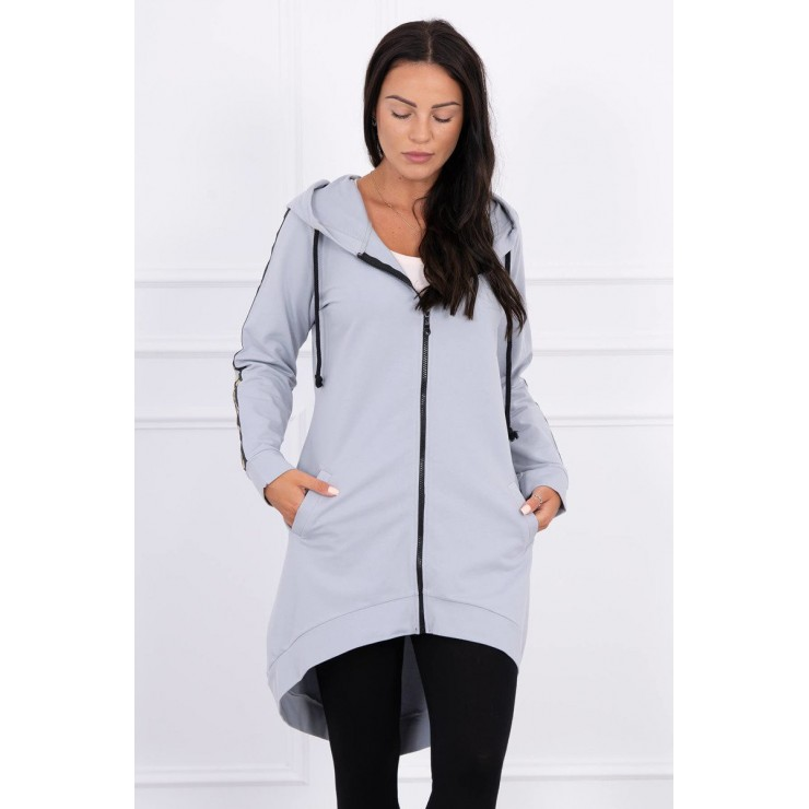 Women's sweatshirt with zipper at the back MI8997 gray