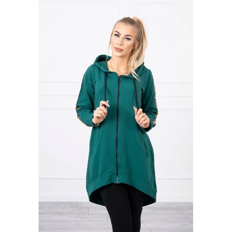 Women's sweatshirt with zipper at the back MI8997 green