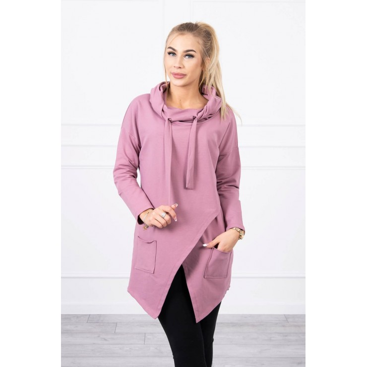 Tunic with envelope front oversize MI0017 pink