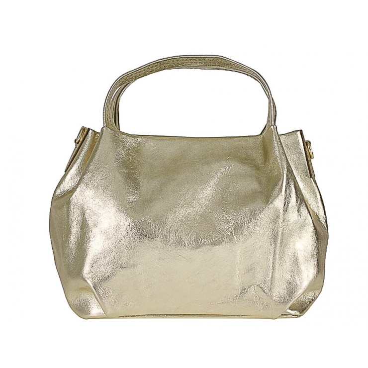Genuine Leather Handbag 784 gold