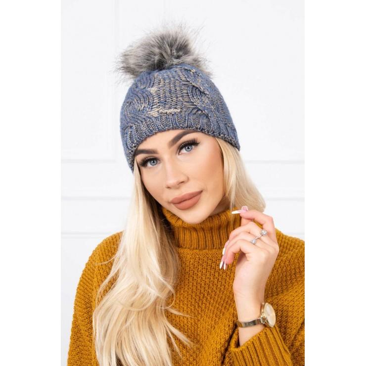 Women's Winter Hat MIK181 blue