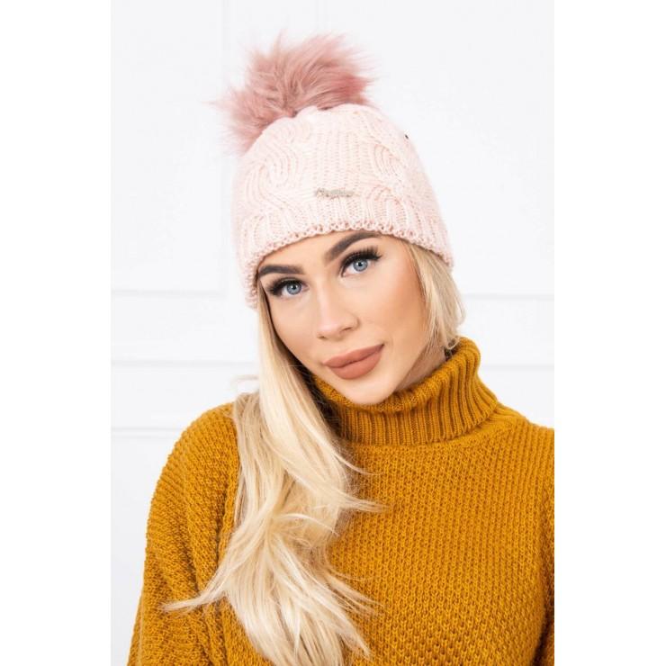Women's Winter Hat MIK181 powder pink