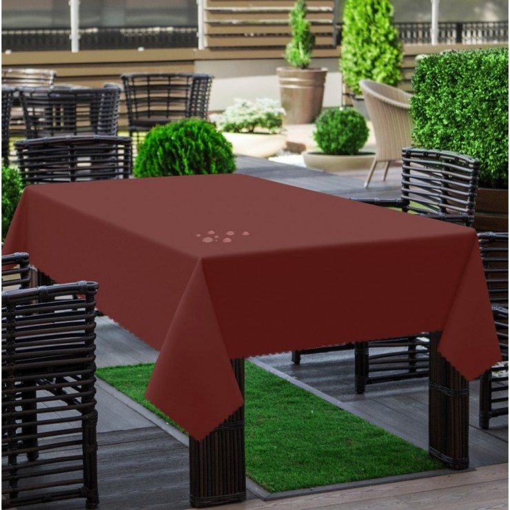 Garden tablecloth 290 bordeaux