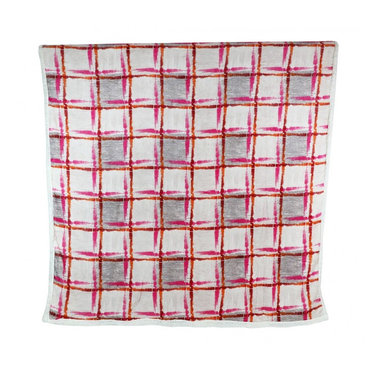 Plaid Fashion 160x210 cm fuxia-gray