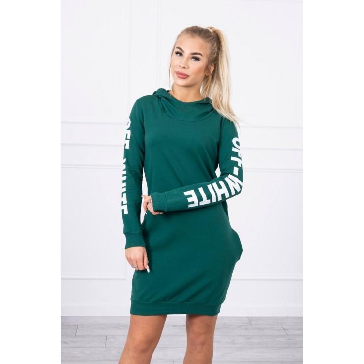 Dress Off White MI62182 dark green