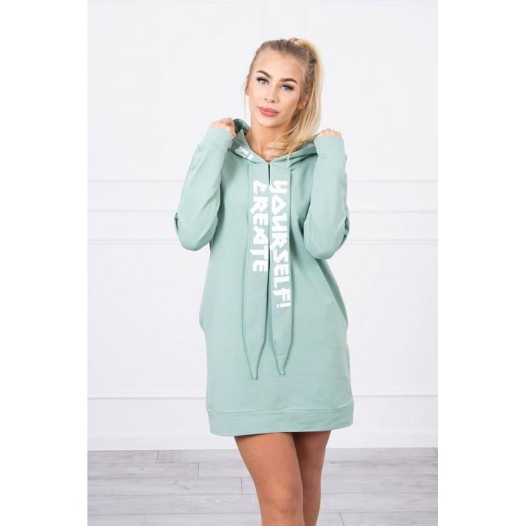 Dress with hood MI0042 dark mint