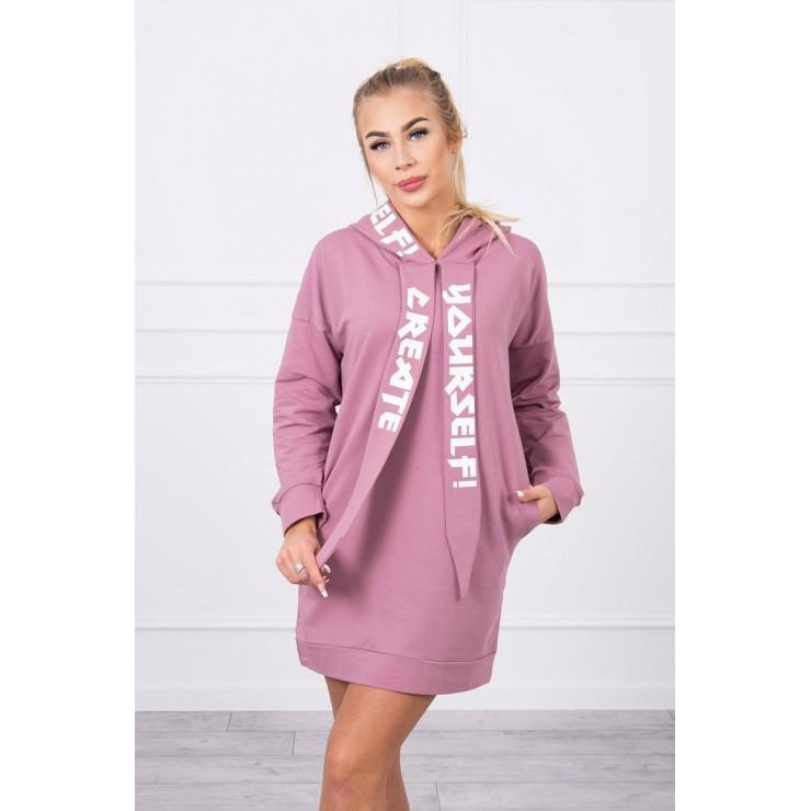 Dress with hood MI0042 dark pink