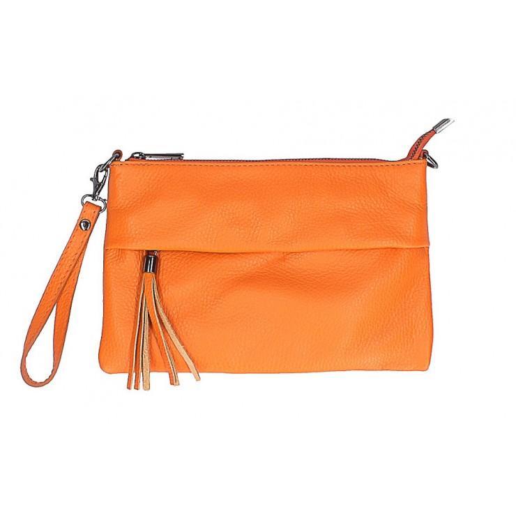 Genuine Leather Handbag 1492 orange