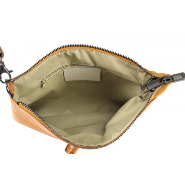 Kožená kabelka 1492 béžová Béžová
