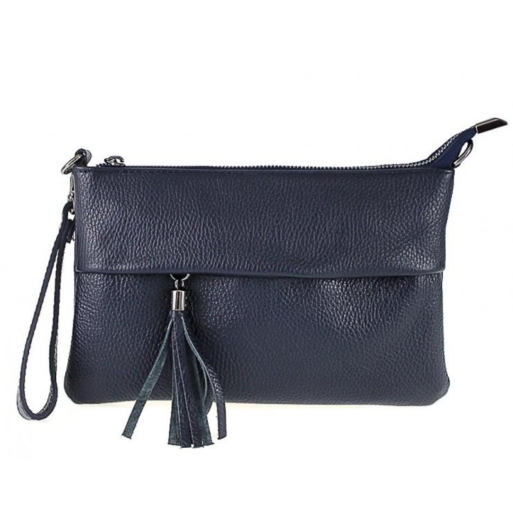 Kožená kabelka 1492 tmavomodrá