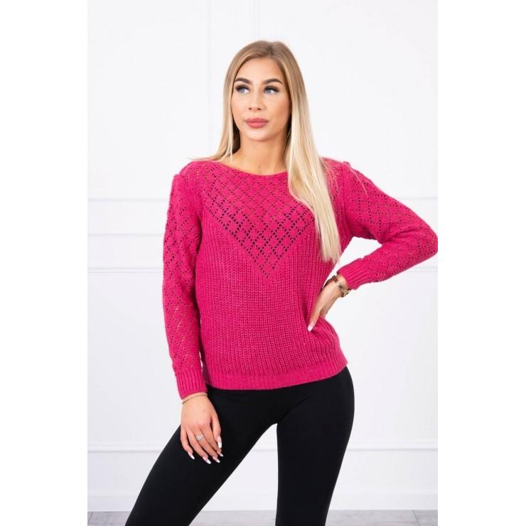 Ladies sweater MI2019-39 fuxia