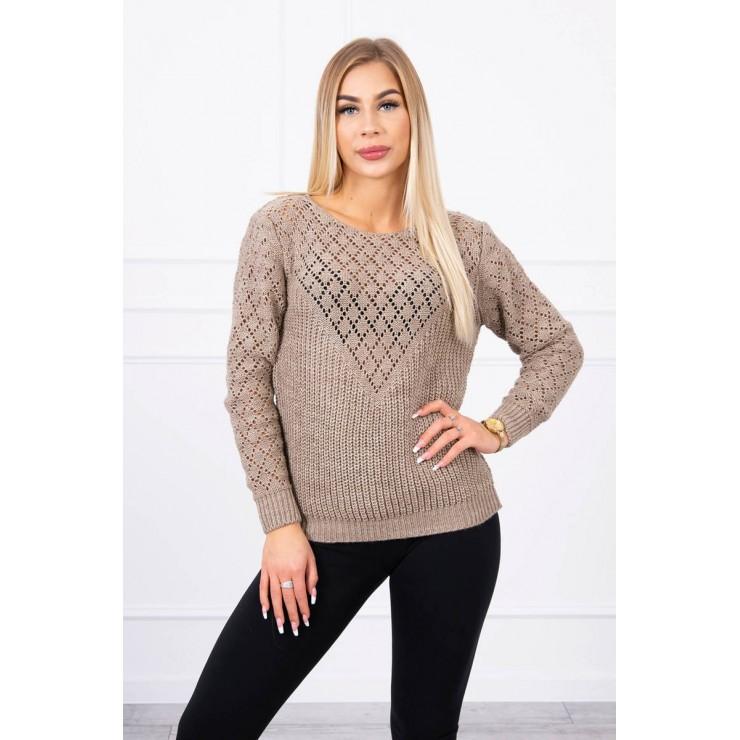 Ladies sweater MI2019-39 cappuccino