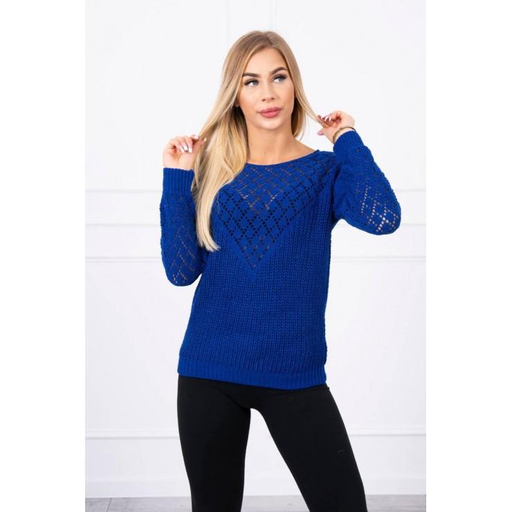 Ladies sweater MI2019-39 bluette