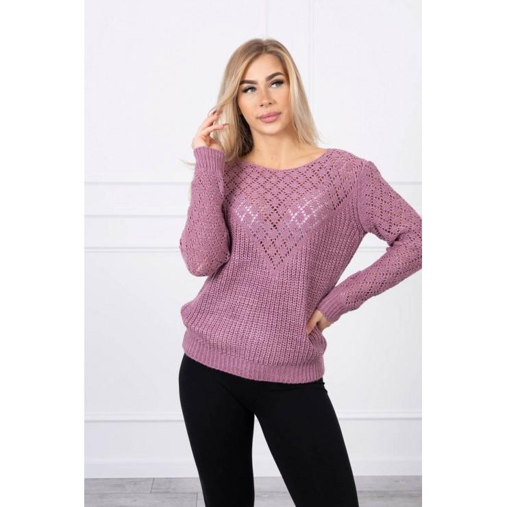 Ladies sweater MI2019-39 dark pink