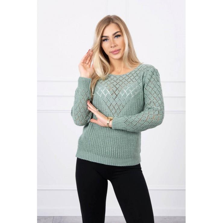 Ladies sweater MI2019-39 mint