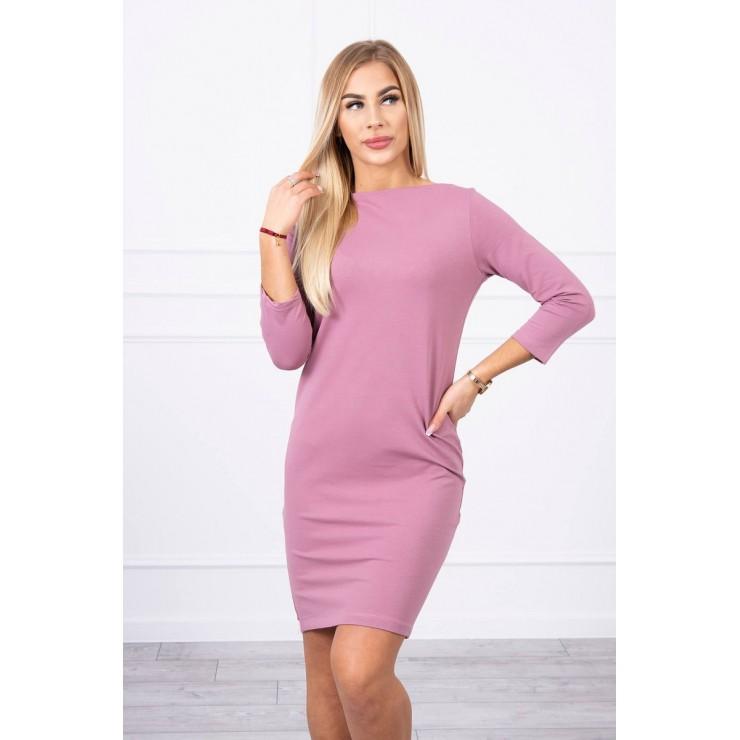 Ladies Dress Classical MI8825 dark pink