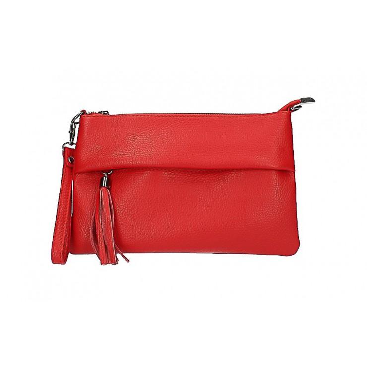 Kožená kabelka 1492 červená