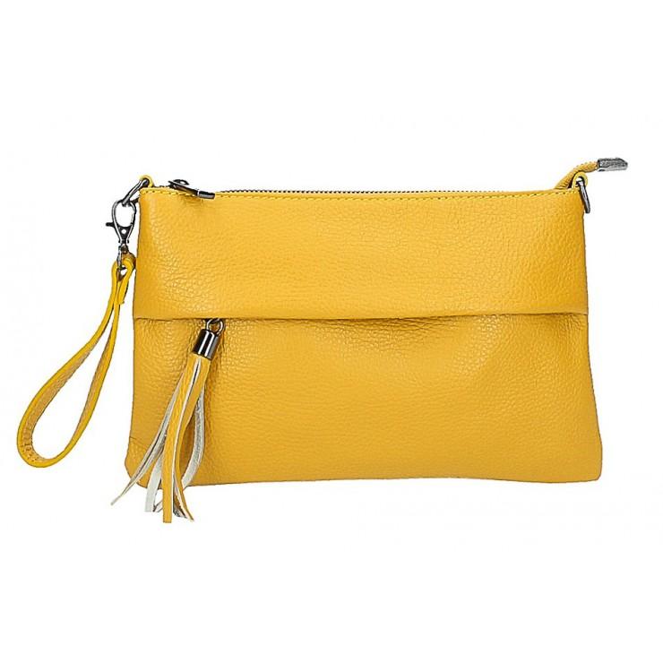 Genuine Leather Handbag 1492 mustard
