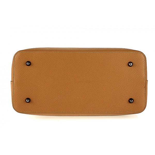 Kožená kabelka 1168 béžová