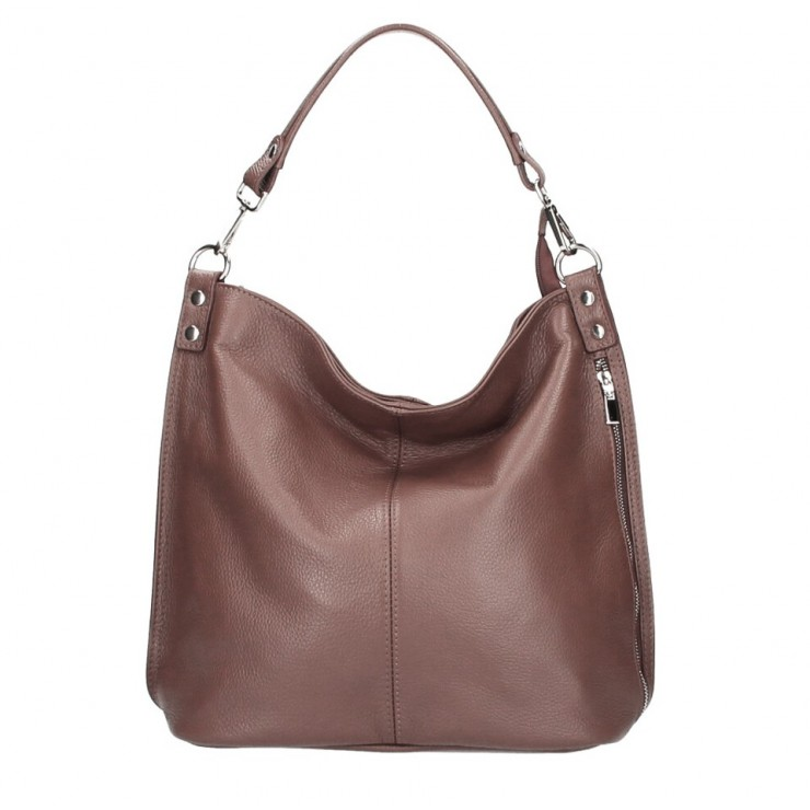 Leather shoulder bag 981 Made in Italy brown