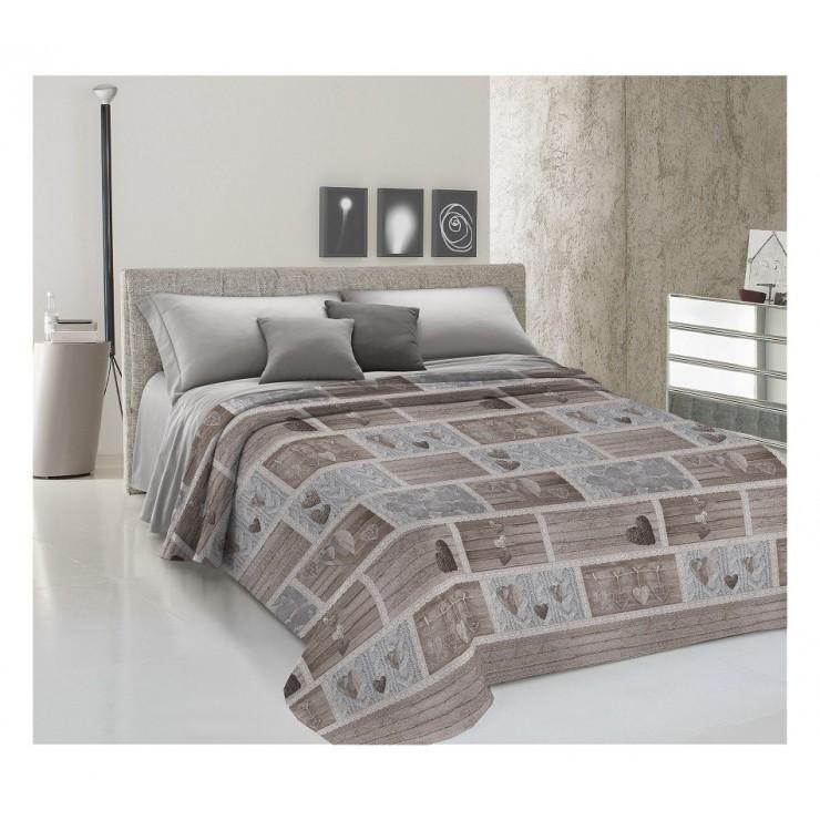 Prikrývka na posteľ Piquet Shabby love béžová