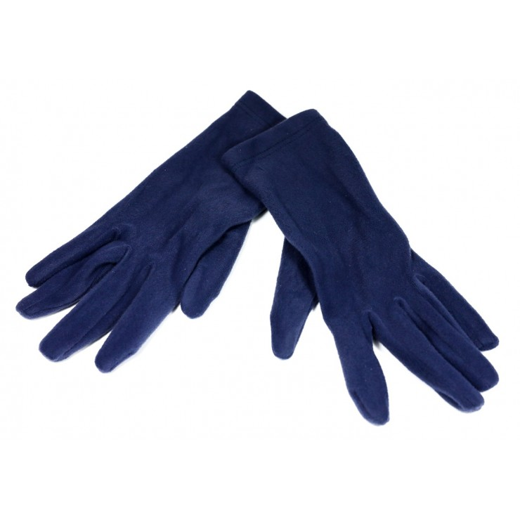 Women's gloves 1022 blue navy Made in Italy