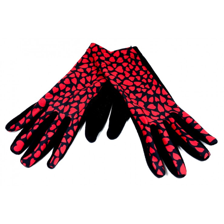 Women's gloves hearts GMF07 Made in Italy