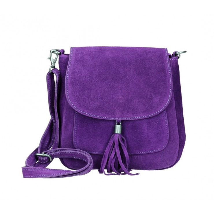 Kožená kabelka na rameno 1147 fialová