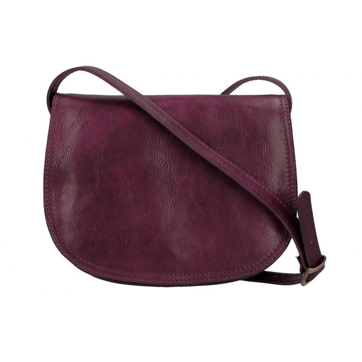 Genuine Leather Shoulder Bag 675 bordeaux