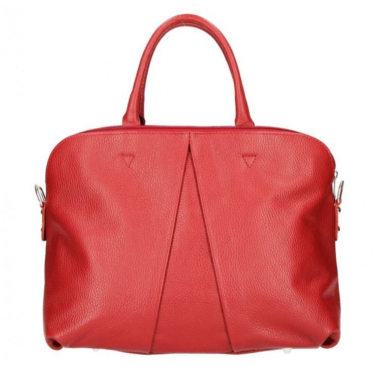 Kožená kabelka MI87 červená Made in Italy