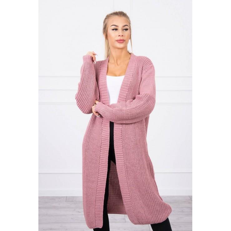 Long sweater MI2019-2 dark powder pink