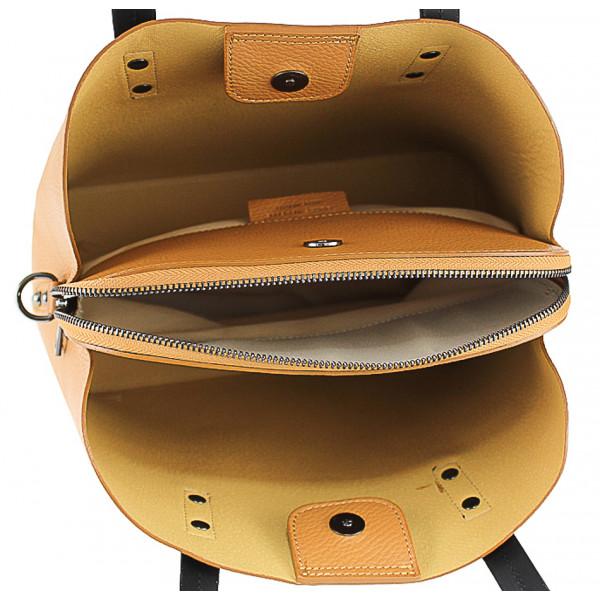 Kožená kabelka 1168 šedohnedá