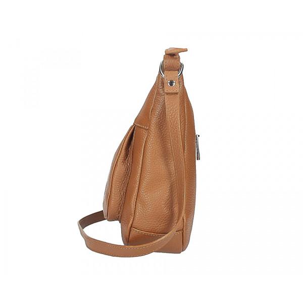 Kožená kabelka na rameno 1489 tmavomodrá Modrá