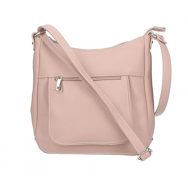 24eae0e147 Kožená kabelka na rameno 1489 pudrová ružová - MONDO ITALIA s.r.o.