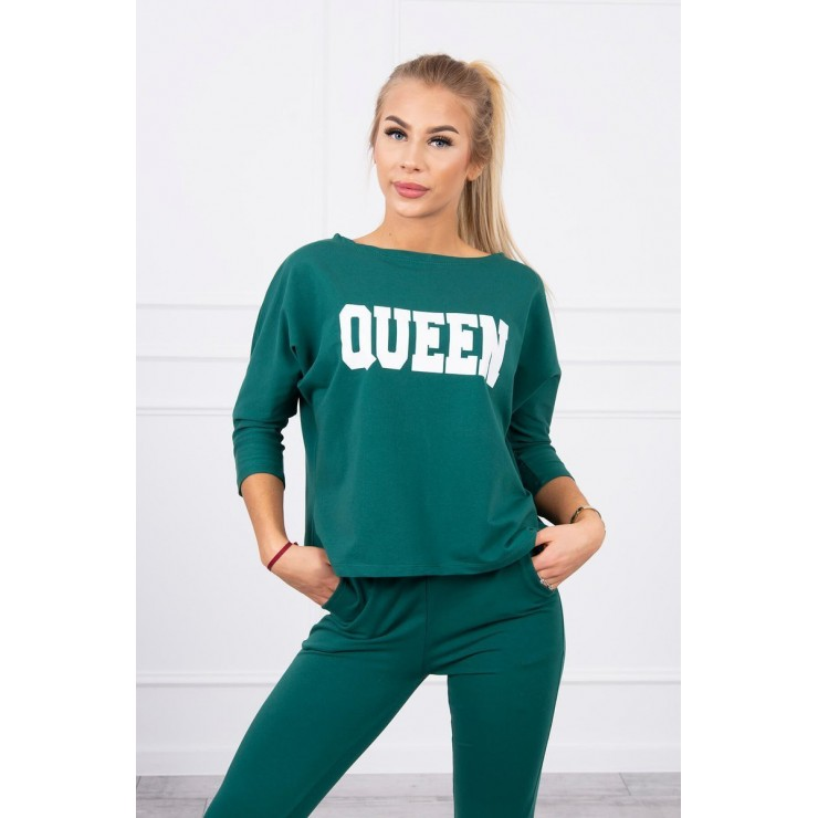 Women's set MI66977 QUEEN dark green