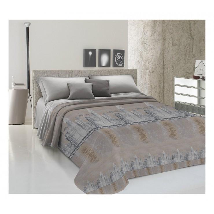 Prikrývka na posteľ Piquet New York béžová